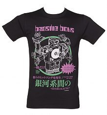 Men's Black Beastie Boys Robot T-Shirt [View details]