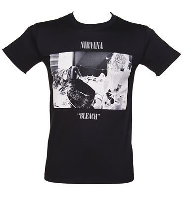 Men's Black Bleach Nirvana T-Shirt