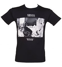 Men's Black Bleach Nirvana T-Shirt [View details]
