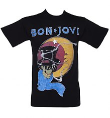 Men's Black Bon Jovi 1987 T-Shirt [View details]