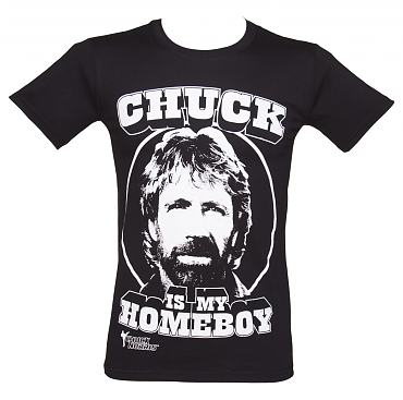Men's Black Chuck Is My Homeboy Chuck Norris T-Shirt