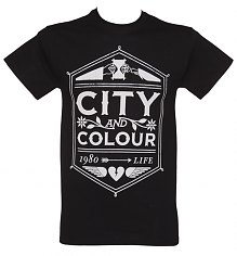 Men's Black City And Colour Crest T-Shirt [View details]