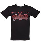 Men's Black Classic Aerosmith Logo T-Shirt