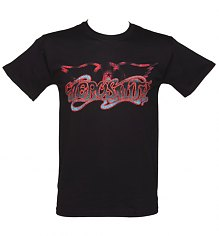 Men's Black Classic Aerosmith Logo T-Shirt [View details]