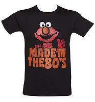 Men's Black Elmo Made In The 80's T-Shirt
