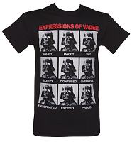 Men's Black Expressions Of Vader T-Shirt