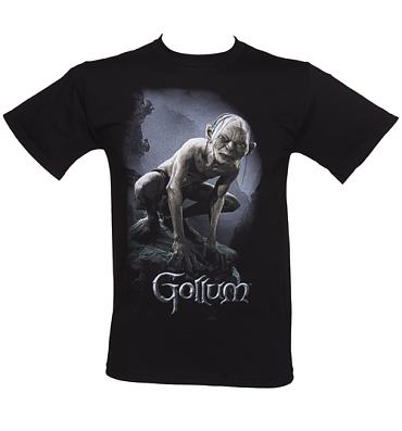 Men's Black Gollum Lord Of The Rings T-Shirt