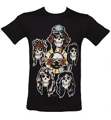 Men's Guns N Roses Vintage Heads T-Shirt [View details]