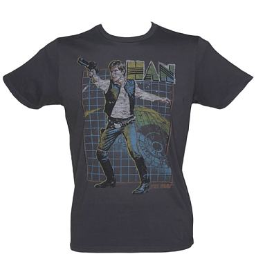 Men's Black Han Solo Talk To Me Star Wars T-Shirt from Junk Food