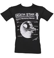 Men's Black Haynes Manual Death Star Star Wars T-Shirt