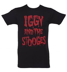 Men's Black Iggy And The Stooges T-Shirt [View details]