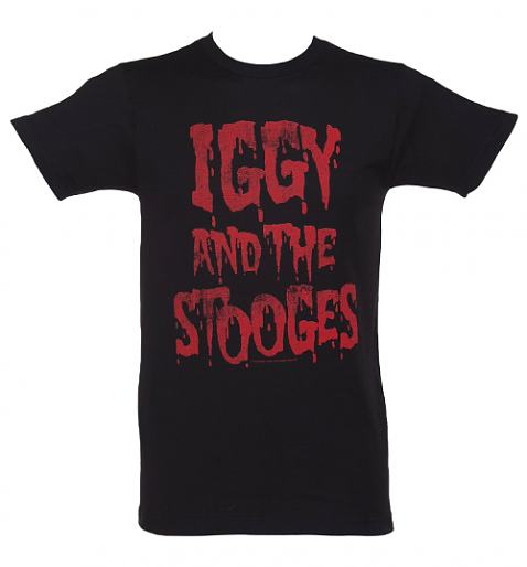 Men's Black Iggy And The Stooges T-Shirt