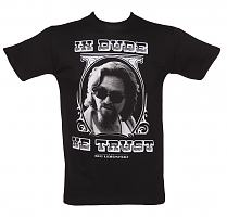 Men's Black In Dude We Trust Big Lebowski T-Shirt