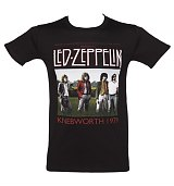 Men's Black Knebworth 1979 Led Zeppelin T-Shirt