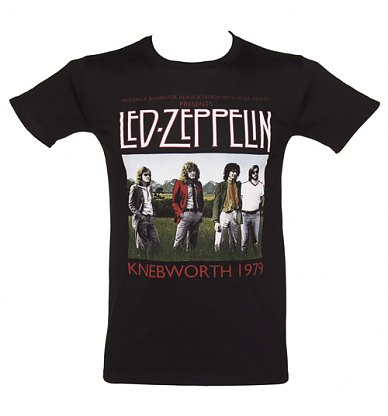 Mens Black Knebworth 1979 Led Zeppelin TShirt
