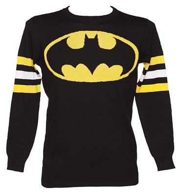 Men's Black Lightweight Batman Jumper