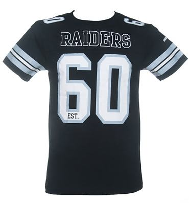 Men's Black NFL Oakland Raiders Lineman T-Shirt from Majestic Athletic
