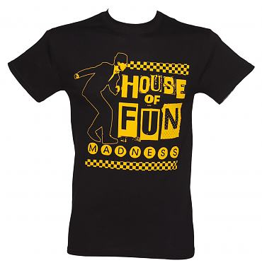 Men's Black Madness House Of Fun T-Shirt