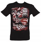 Men's Black Man Of Steel Superman T-Shirt