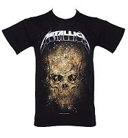 Men's Black Metallica Skull Explosion T-Shirt