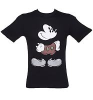 Men's Black Mickey Mouse Hips T-Shirt
