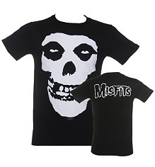Men's Black Misfits Skull T-Shirt [View details]