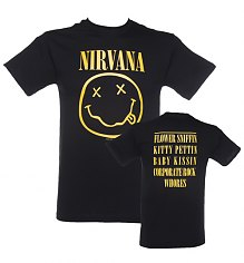 Men's Black Nirvana Smiley T-Shirt [View details]