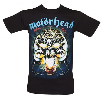 Men's Black Overkill Motorhead T-Shirt