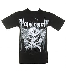 Men's Black Papa Roach Crossbone Drips T-Shirt [View details]