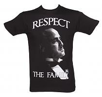 Men's Black Respect The Family Godfather T-Shirt
