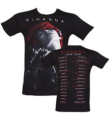 Men's Black Rihanna Tour T-Shirt [View details]