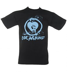 Men's Black Rise Against Heart Fist T-Shirt [View details]