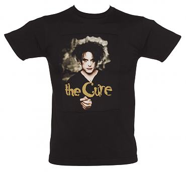 Men's Black Robert Smith Cure T-Shirt