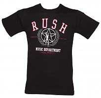 Men's Black Rush Music Dept T-Shirt