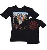Men's Black Sgt Pepper Beatles T-Shirt