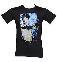 Men's Black Sidney Maurer Design Hollywood Icon T-Shirt
