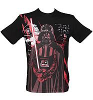Men's Black Sith Lord Darth Vader Star Wars T-Shirt from Addict