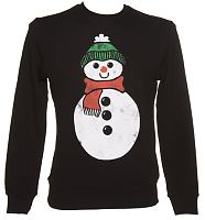 Men's Black Snowman Christmas Sweater