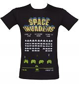 Men's Black Space Invaders T-Shirt