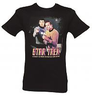 Men's Black Star Trek Kirk And Spock T-Shirt