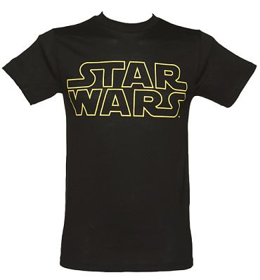 Men's Black Star Wars Logo T-Shirt