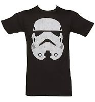 Men's Black Star Wars Stormtrooper Face T-Shirt
