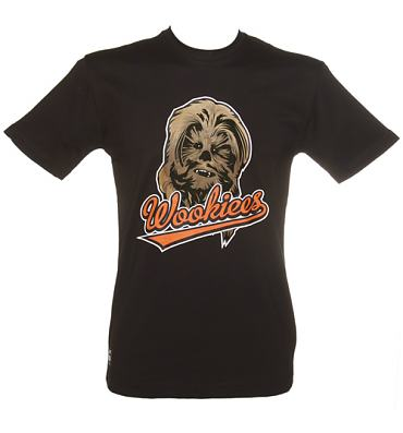 Men's Black Star Wars Wookies T-Shirt from Addict