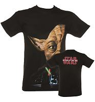 Men's Black Star Wars Yoda Step Brothers T-Shirt