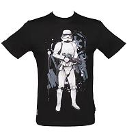 Men's Black Stormtrooper Star Wars T-Shirt from Addict