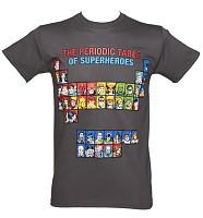 Men's Black Superheroes Periodic Table T-Shirt