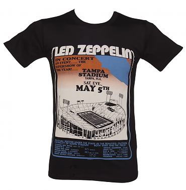 Men's Black Tampa Stadium Tour Led Zeppelin T-Shirt