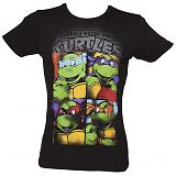 Men's Black Teenage Mutant Ninja Turtles Graffiti T-Shirt