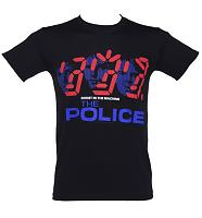 Men's Black The Police T-Shirt