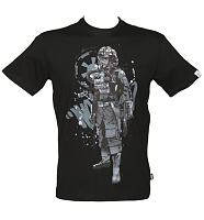 Men's Black Tie Fighter Pilot Star Wars T-Shirt from Addict